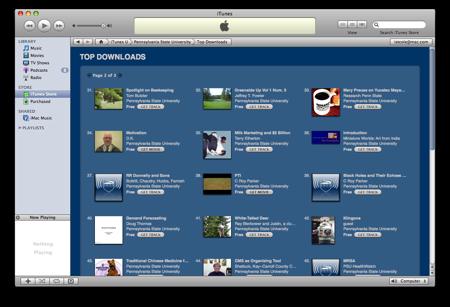 PSU on iTunes U: Top Downloads