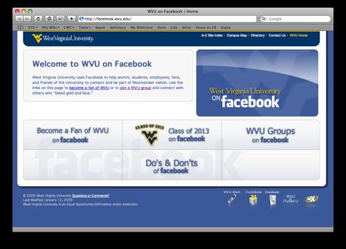 WVU on Facebook